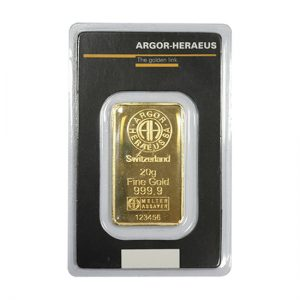 Switzerland 20g Fine Gold 123456